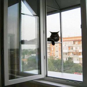 реализация за оконной металлической сетки для кошек